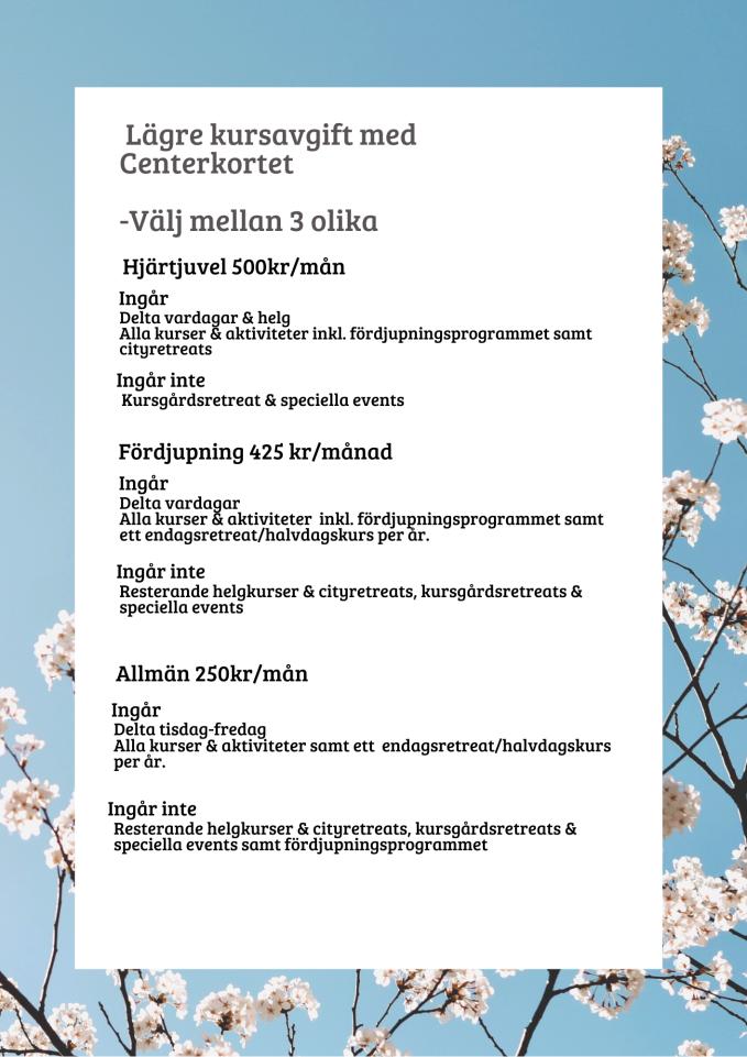 centerkortet infoblad